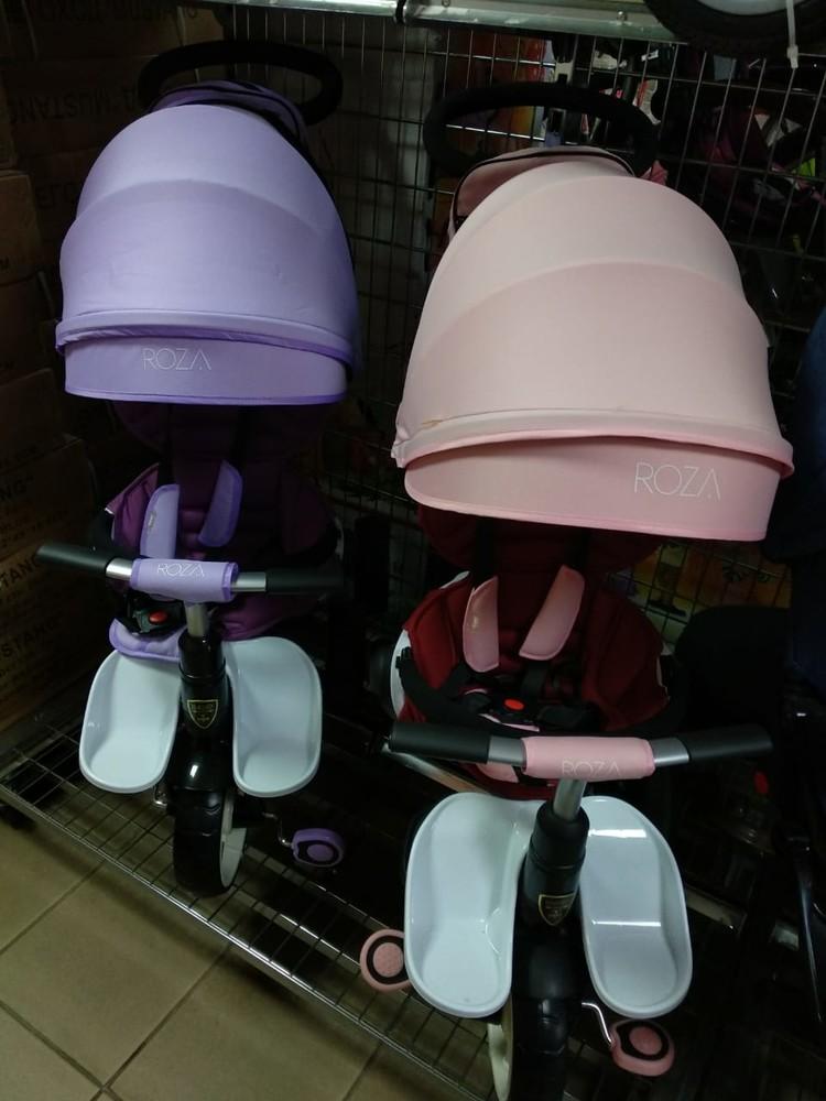 Кроссер т 600 велосипед коляска детский трехколесный crosser roza фото №1