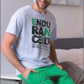 Мужские домашние комплекты пижамы футболка+ шорты  в ассортименте Польша
