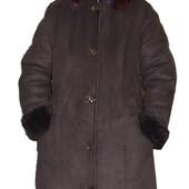 Зимняя очень тёплая дубленка пальто