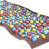 Коврик-дорожка массажный ортопед с цветными камнями (100*40 см.)