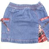Джинсовая юбка ( 6-12 мес., можно больше )