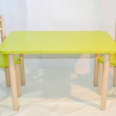 Яркий зеленый стол со стульями для Ваших деток
