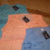Ночная рубашка «Anni Fashion» (xl-голубая) код.1005 ночнушка