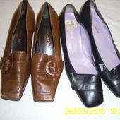Шкіряні туфлі .39 р. та 37 р.