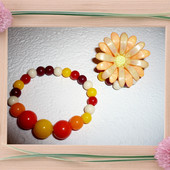 Набор для девочки кольцо+браслет