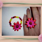 Набор для девочки кольцо+браслетик