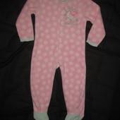 флисовая тёплая пижама слип на 2-3 года с Пеппой, Peppa Pig