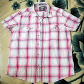Мужская рубашка H&M (Эйч энд Эм) с коротким рукавом в клетку, размер L