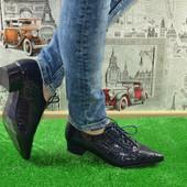 Классные легкие удобные мокасины туфли- синие и черные-Польша