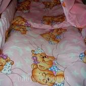 Комплект Спящие мишки цвет розовый из 4 элементов