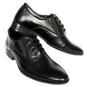 Классические мужские туфли черного цвета (ЮТ-36)