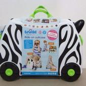 Чемодан детский на колесах Зебра Terrance Trunki Tru0264