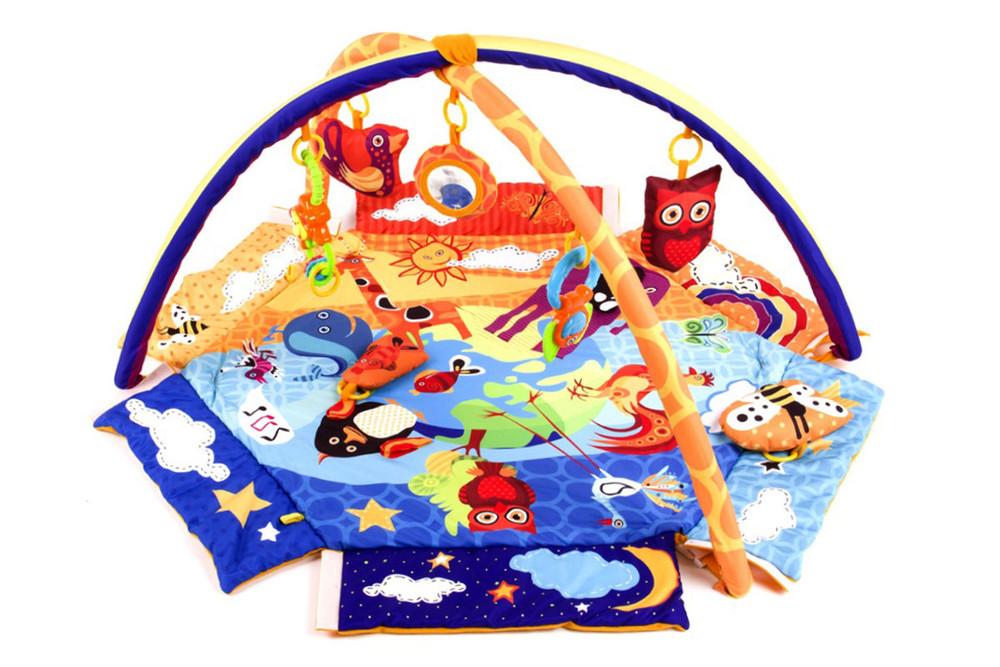 Развивающий коврик-манеж kinderkraft animals planet утепленный фото №1