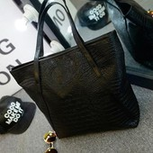 Женская сумка кожзам. Черная