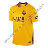 Футбольная футболка Барселоны 2015-2016 Nike выездная (1583)