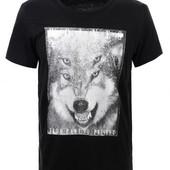 футболки Гло Стори черная и белаяр. М-ХЛ