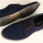 Туфли мужские натуральный нубук р. 40-45