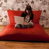 Красное кресло-подушка, мат 140х180 см из ткани Оксфорд