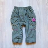 Стильные штаники для девочки. Размер 9-12 месяцев. Состояние: отличное.