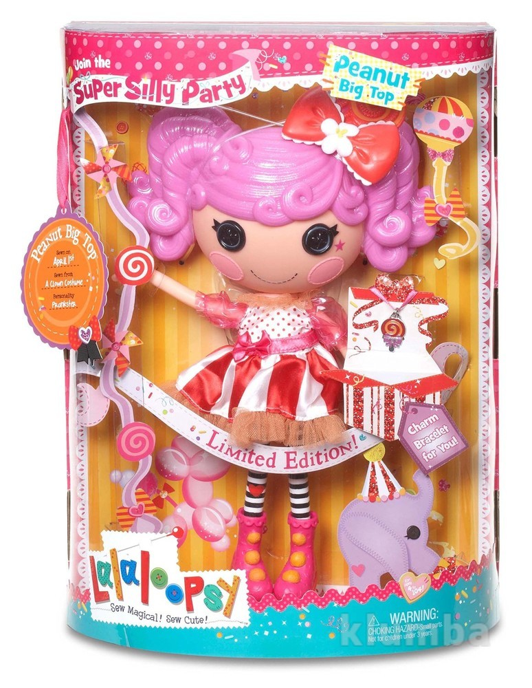 Lalaloopsy super silly party large doll- peanut big top лалалупси смешинка 33 см фото №1
