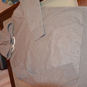 Кофта на флисе с капюшоном большого размера