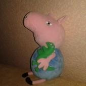peppa pig мягкая игрушка Джердж с динозавром.