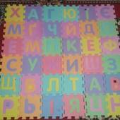 продам коврик 90см/90сммягкий алфавит