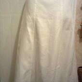 белоснежная  льняная юбка H&M