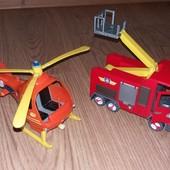 Пожарная машина и вертолет пожарного Сема оригинал