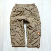 Стильные штаники для мальчика. Внутри на котоновой подкладке. Der Bar. Размер 12-18 месяцев
