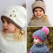 Зимняя шапка,шапочка для девочки 5,6,7,8,9,10,11,12 и старше р52-57