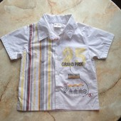 Рубашка на мальчика фирмы Berti размер 80 см (можно до 2 лет)