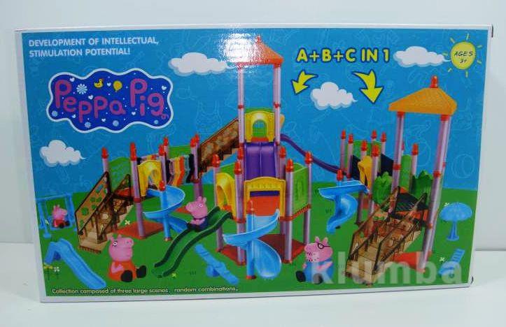 Свинка пеппа детская площадка игрушки