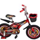 Доставка! гарантия! велосипед от 3 лет, Azimut Pilot, диаметр колёс 14, Тачки красный, 00000094776