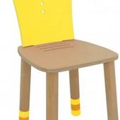Стульчик регулируемый з переставной спинкой «Royal», желтый,Indigo Wood 29711