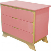 Комод с пеленальным столиком «Nova», Indigo Wood 32893 розовый