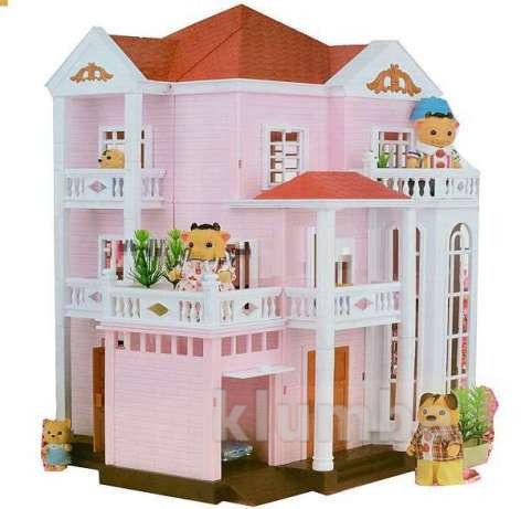 Домик happy family 1513 трехэтажный со светом (аналог sylvanian families) фото №1
