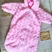 Конверт для новорожденной девочки - демисезонный. ( от нуля до 6 мес.)