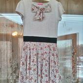 Мягкое платье для девочки 6 -7 лет ( 116 -122)