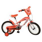 Доставка! Гарантия! Велосипед от 4 лет, Profi Trike, колёса 16 дюймов, sx16-01-1, цвет 0ранжевый