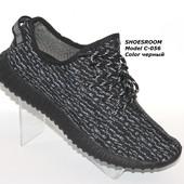 Скидка!Мужские кроссовки Adidas yeezy boost 350 черно-серые, весна 2016