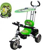 детский велосипед трехколесный с родительской ручкой, Profi Trike м 5342 еva Foam Ben 10