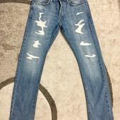 Рваные мужские джинсы H&M 32