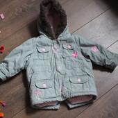 Теплая демисезонная курточка, парка для девочки LadyBird 9-12 мес.