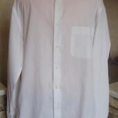 рубашка белая Сarrel италия ворот 43/17 XL/XXL 100%котон
