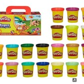 Оригинал! Набор 1680 грамм пластилина Play-Doh 20 баночек, (A7924), Плей до