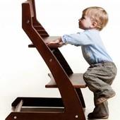 Детский стул растущий, регулируемый тонированный. Стульчик