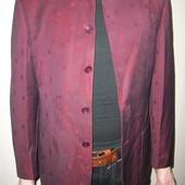 пиджак мужской.бордовый с отливом, ворот стойка