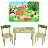 Столик и два стульчика  501-10 Веселая ферма