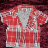 Рубашечка-Двойка фирменная Cherokee  мальчику 2- 3года